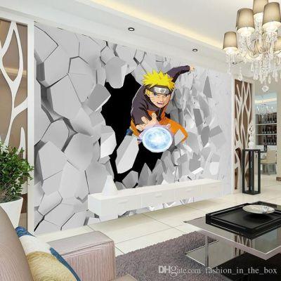 Japanese Anime Wall Mural 3d Naruto Photo Wallpaper Boys Kids Bedroom Custom Cartoon Wallpaper ...