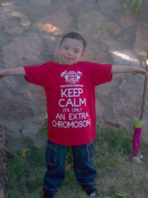 "Chromosome Kid ""keep Calm It's Only An Extra Chromosome"" T-shirt Provided"