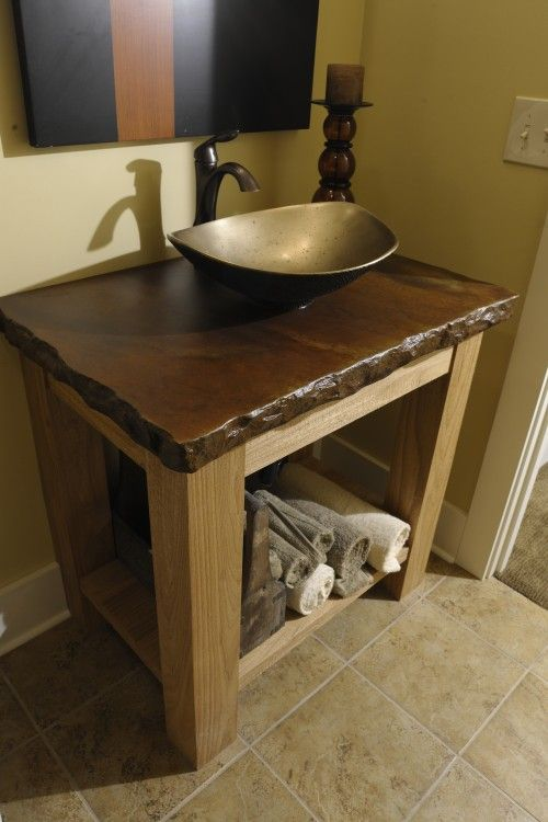 Vessel Sink Vanity Concrete Countertop. For Gino!!!!!! Love The New House