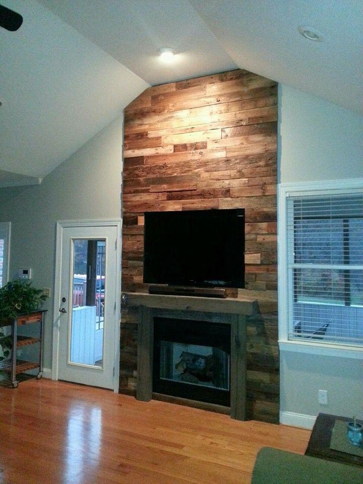 3d Faux Stone Wallpaper Best 25 Pallet Fireplace Ideas On Pinterest