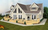 Ski Chalet House Plans   Mountain Chalet House Plan  1442 ...