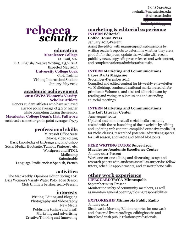 20 Creative Things Job Seekers Have Done To Get Noticed Nice Use Of Space Fit A Lot Of Info On One Page Woman