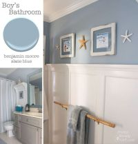 Bathroom - Benjamin Moore Slate Blue | Pretty Handy Girl ...