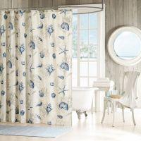 Seashells Shower curtain Beach theme Cotton | Seashells ...