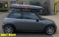 Mini Cooper with SunRoof  Thule Custom Track Installation