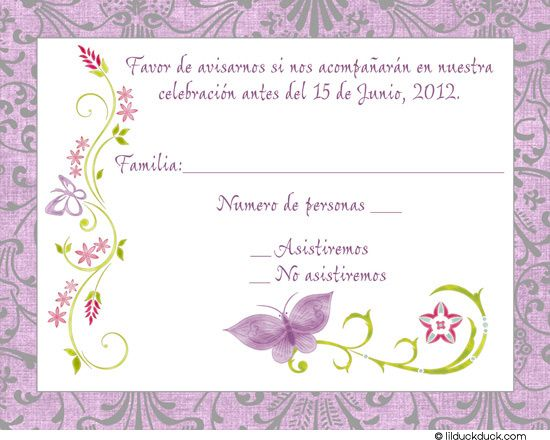 1000 Images About Diy Rsvp Cards On Pinterest Spanish