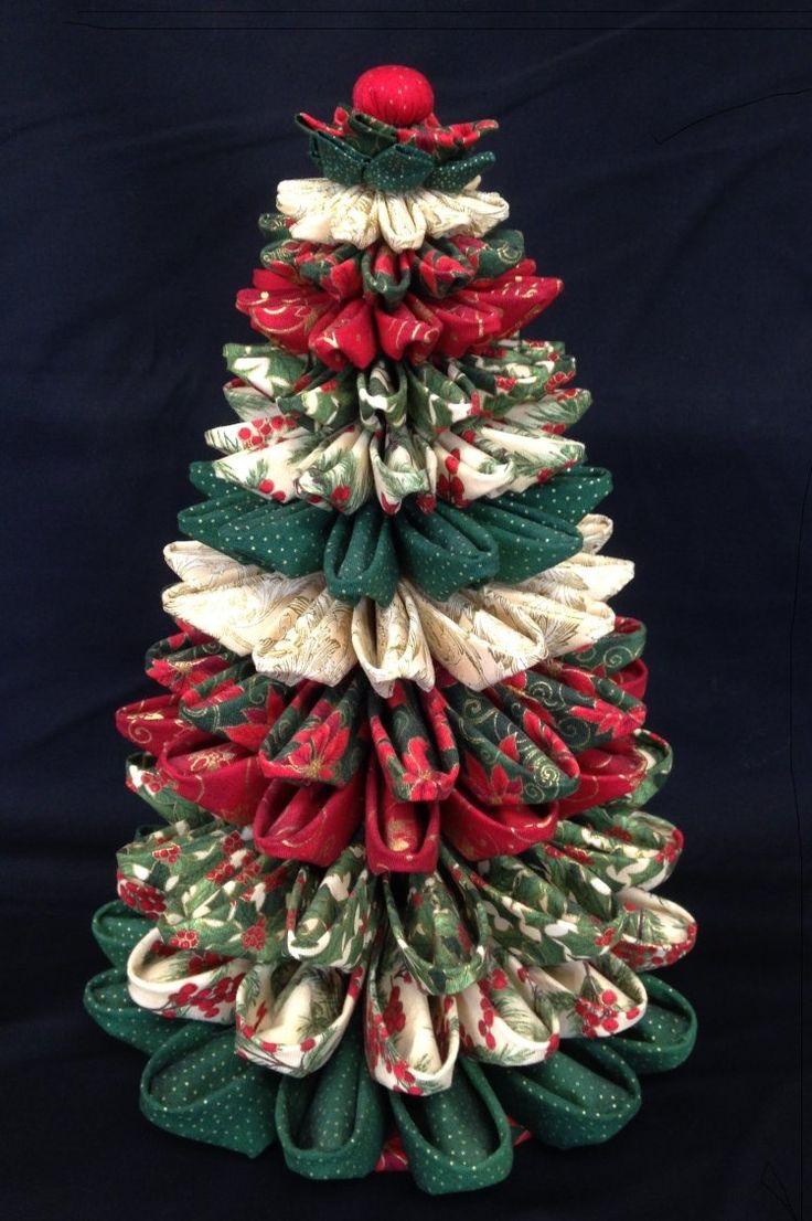 Folded fabric christmas tree m s
