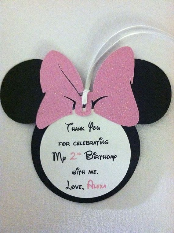 Minnie Mouse Thank You Tags Minnie Mouse Gift Tags By
