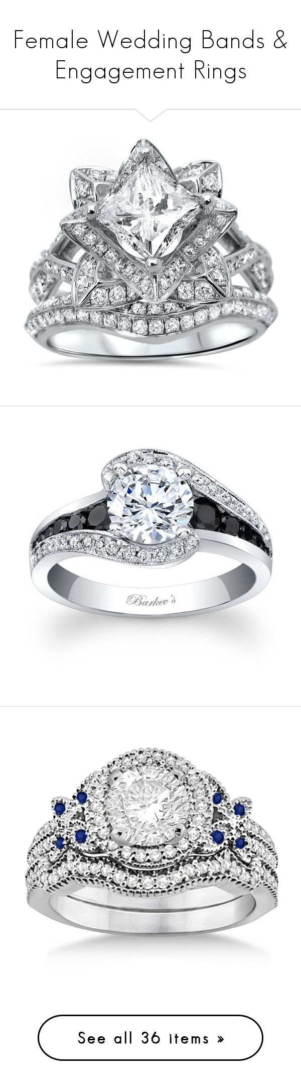 female wedding bands pagan wedding rings Female Wedding Bands Engagement Rings by boondock saint liked on Polyvore
