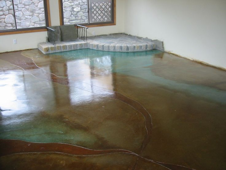 Acid Wash Concrete Floor From My Old House Nourishing