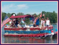 Pontoon Decorated for July 4th | Fourth of July ...