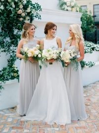 25+ best ideas about Silver bridesmaid dresses on