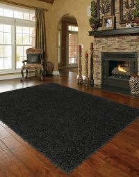 solid black area rugs