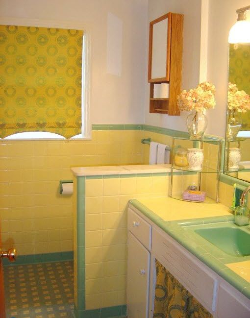 ... Die 311 Besten Bilder Zu Bathrooms Auf Pinterest Mosaikböden    Badezimmer 1950 ...