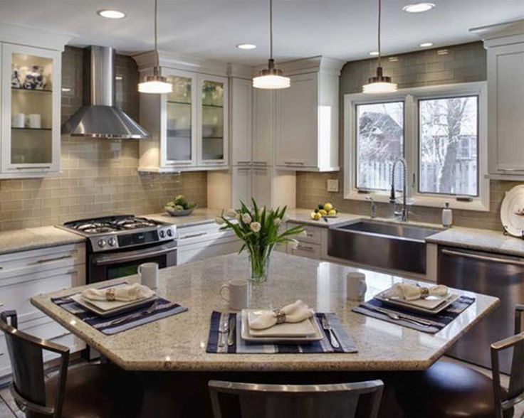 L Shaped Island Small L Shaped Kitchens With Islands - Google Search