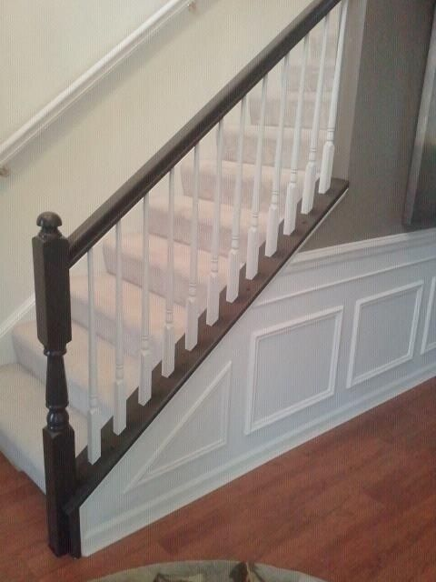 Painting The Chair Railing Chair Railing Diy And Crafts