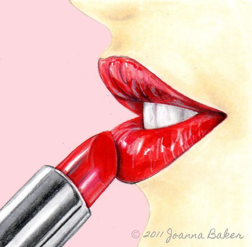 Beautiful Girl Sketch Wallpaper Lipstick Illustration By Joanna Baker Drawing