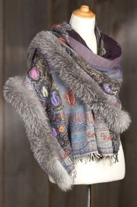 1000+ images about Fur edged shawls on Pinterest | Shawl ...