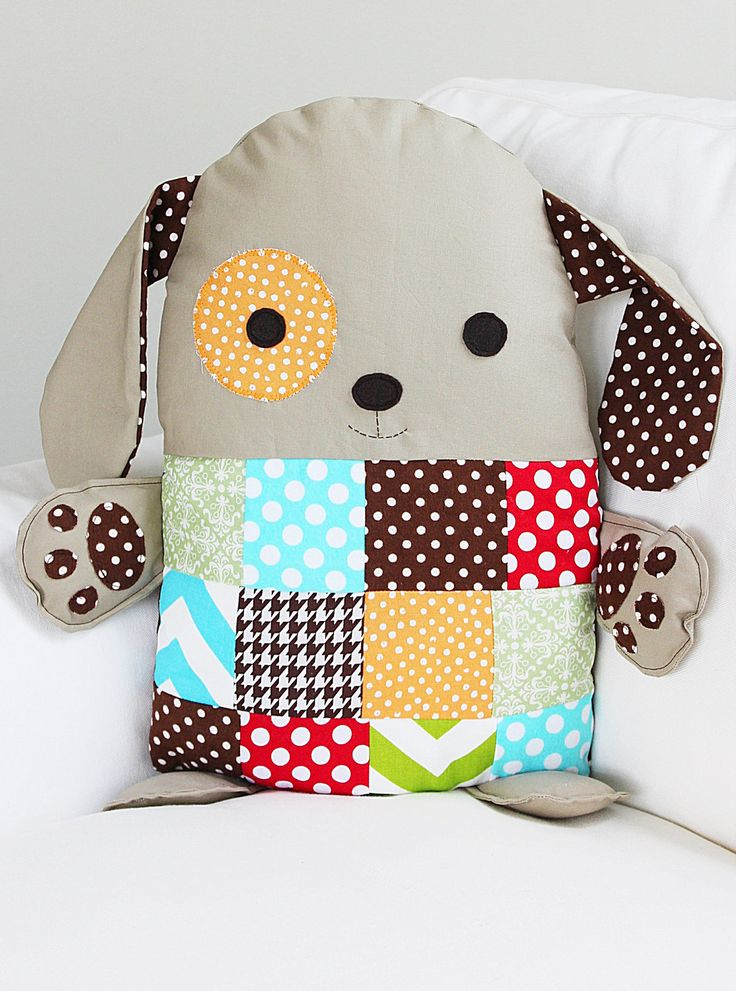 Dog Sewing Pattern Patchwork Pillow Pattern Toy By