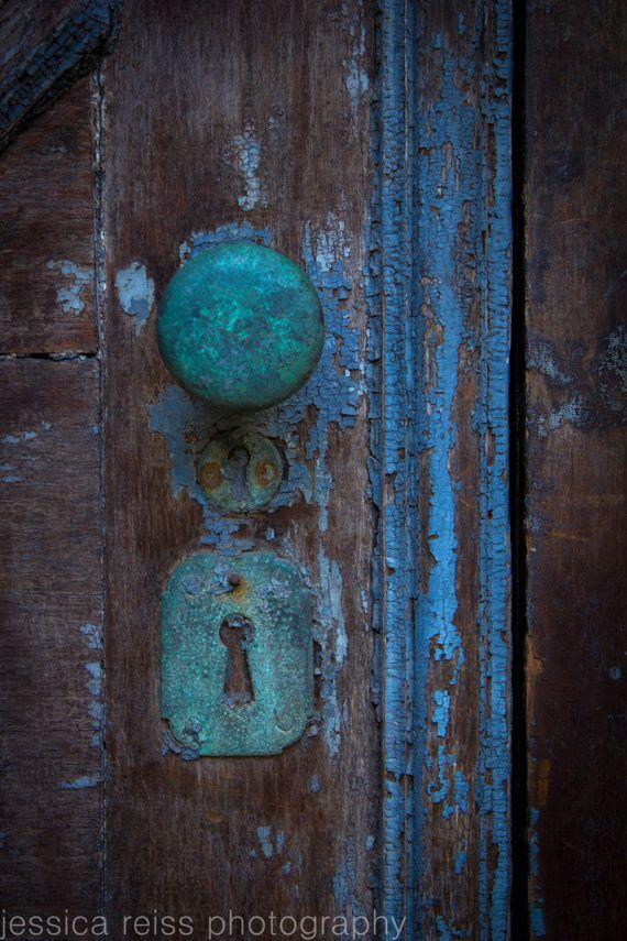 Fall Desktop Wallpaper Pinterest Old Rusted Teal Turquoise Baby Blue Door Knob Lock Vintage