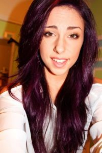 Pravana Violet over light to medium brown hair :) | Laura ...