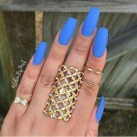 25+ best ideas about Blue Matte Nails on Pinterest   Matt ...