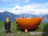 Alfi Fire Hot Tub Fire Burning Outdoor Portable Hot Tub ...