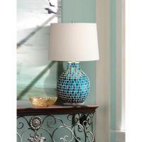 Teal Blue Glass Mosaic Jar Table Lamp | Jars, Table lamps ...