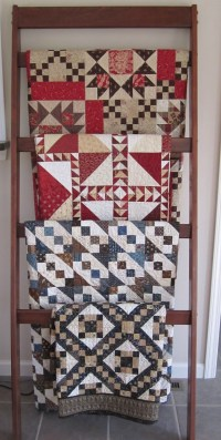 Ladder Quilt Rack Pattern - WoodWorking Projects & Plans