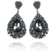 Black diamond earing #Prom | Earings | Pinterest | Black ...