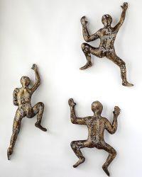 Abstract Metal Wall Art sculpture, Climbing man sculpture ...