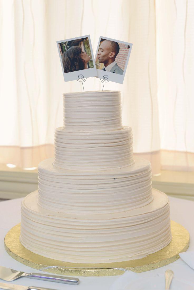 wedding topper wedding cake topper Polaroid Wedding Cake Topper Polaroid Topper Porter and Reel Photography Jill Parmely