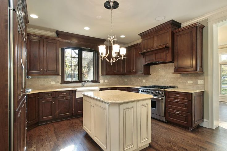 Kitchen Cabinets With Handles In Middle Dark Kitchen Cabinets With White Middle Work Island