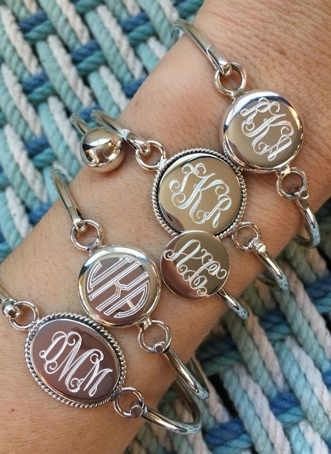 monogrammed necklace cheap