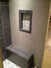 12x24 Neos Tile - Shower Niche w/Pebble Rock | Shower ...