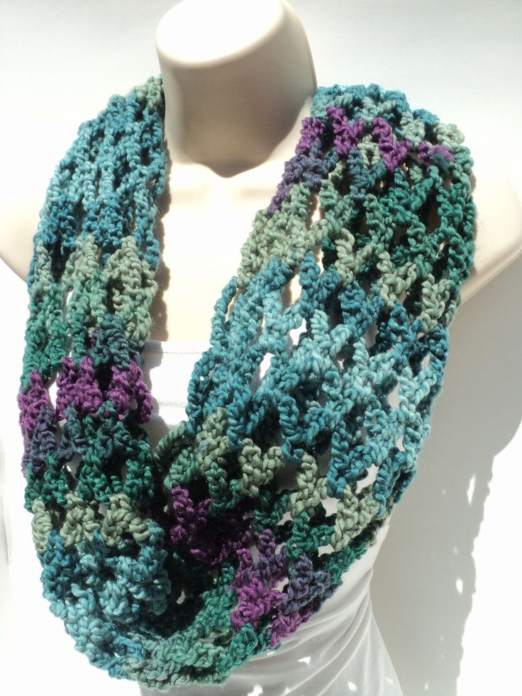 Patterns For Infinity Scarves. Great Crochet Infinity