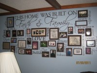 Mom's wall of fame :) I would love this in my Living Room ...