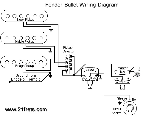 fender bullet bass wiring diagram