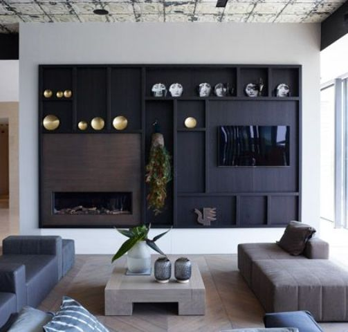 Wandpaneel Zwart 32 Stylish Modern Wall Units For Effective Storage