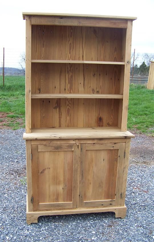 Vintage Sideboard Amazon Amish Barnwood Farmhouse Stepback Hutch With Open Top