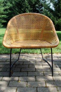 $110 Vintage Mid Century Modern Wicker Chair by ...
