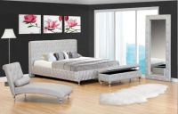 Cagliari Crystal Silver Leatherette Bed $599 | Ideas for ...