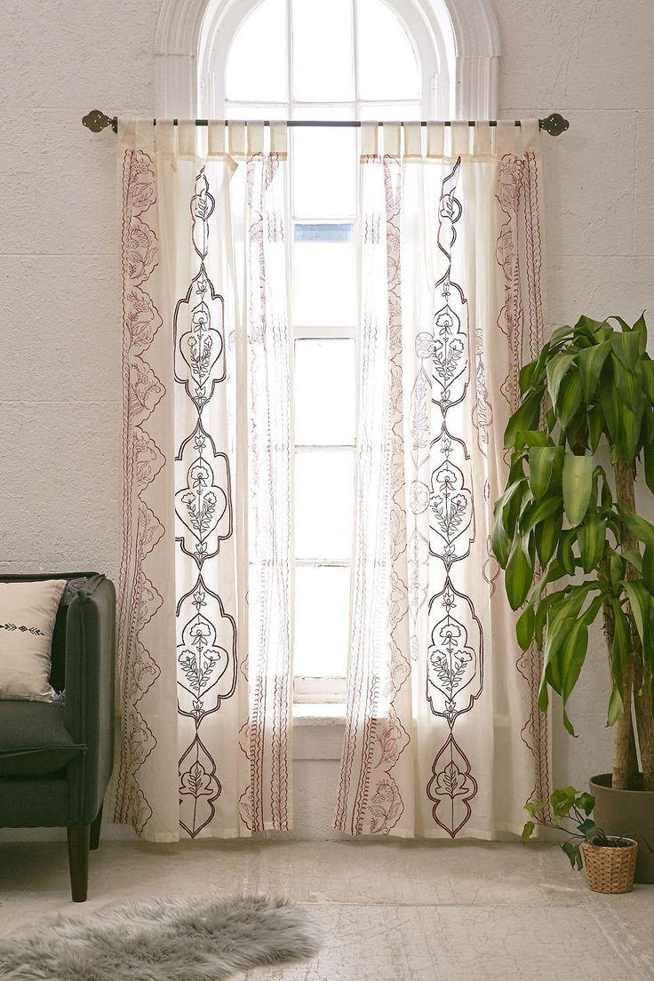 Jazmin embroidered curtain boho curtainspurple curtainswindow