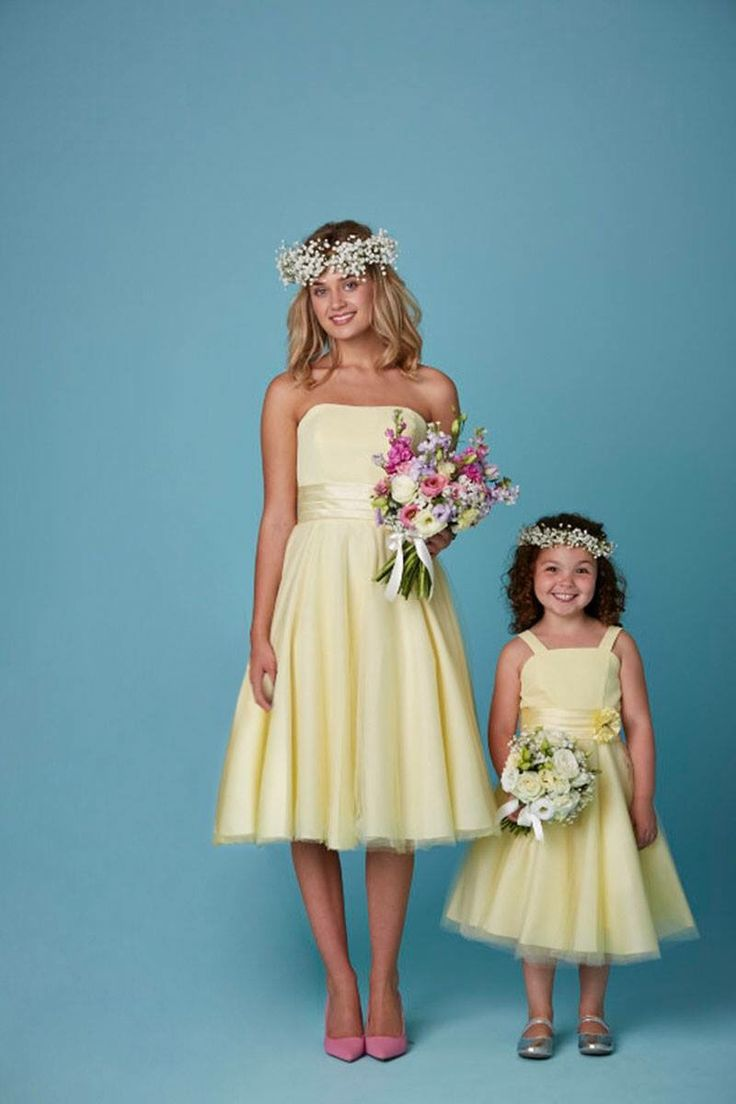 amanda wyatt bridesmaid dresses flower girl wedding dresses Lemon bridesmaid and flower girl dresses Available in a range of colours