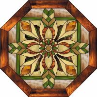 Nouveau Window Octagon Stained Glass Decorative Window ...