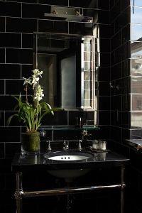 25+ Best Ideas about Black Bathrooms on Pinterest | Dark ...