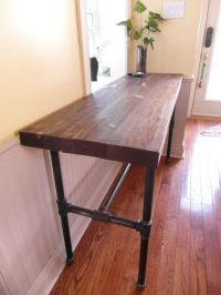 Diy Console Table With Pipe Legs - WoodWorking Projects ...