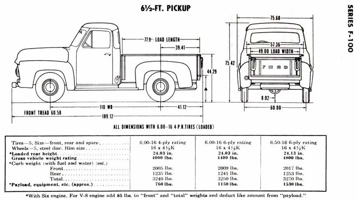 1956 ford f100 short bed