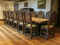 gothic dining table & chairs | house | Pinterest | Dining ...