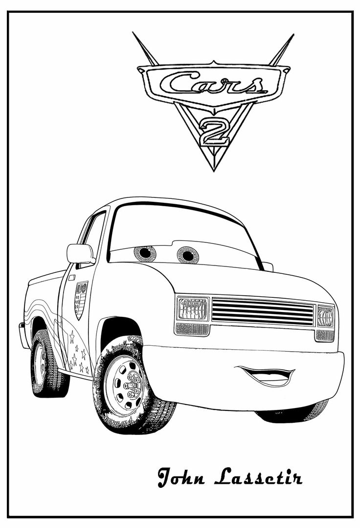 Coloring games online cars -  Pages Cars Coloring John Lassetire Download